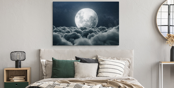 Outer space canvas print planets