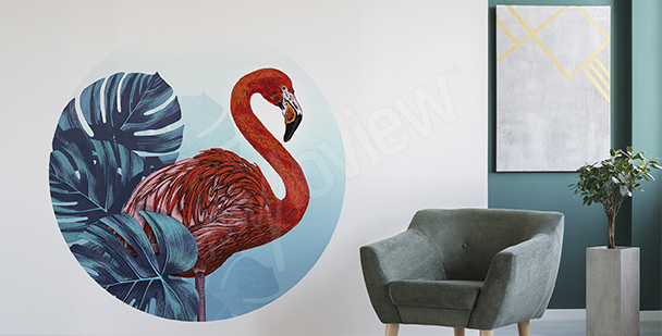 Red flamingo sticker