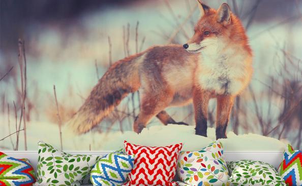 Red fox mural