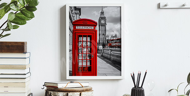 Red phonebooth poster