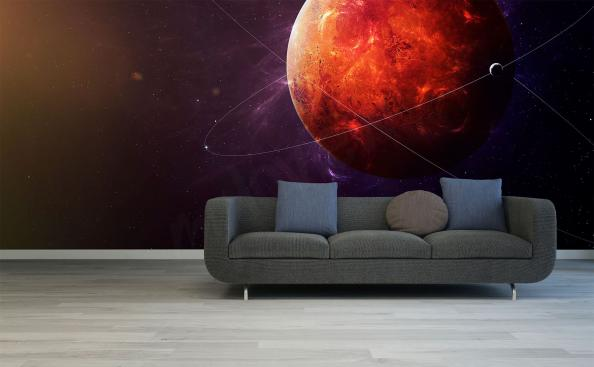 Red Planet Mars mural