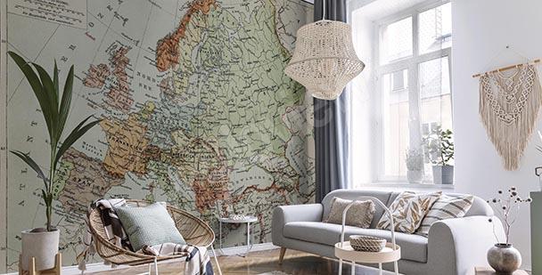 Retro greyscale map