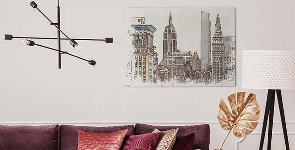 Retro New York canvas print