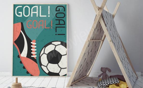 Retro style football poster
