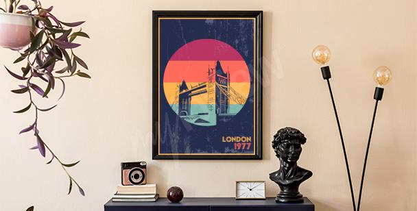 Retro-style London poster