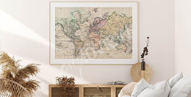 Retro-style map poster