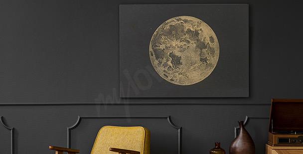 Retro-style Moon canvas print