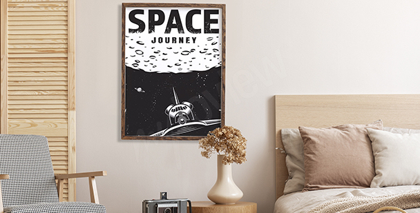 Retro-style space poster