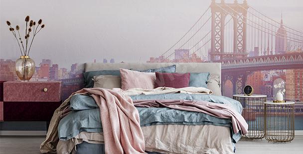 Romantic bedroom mural