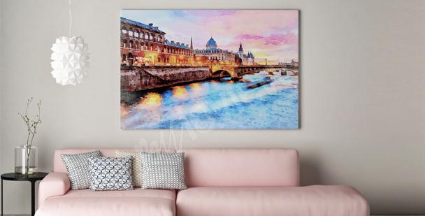 Romantic landscape canvas print