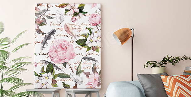 Romantic style canvas print