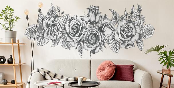 Rose bouquet sticker