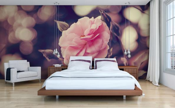 Rose mural for bedroom