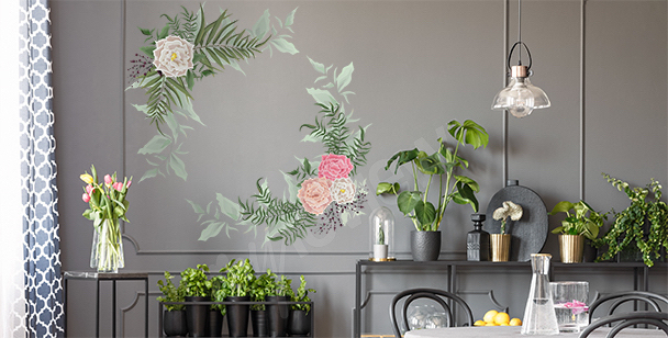 Roses and ferns sticker