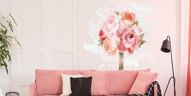 Roses sticker for the living room