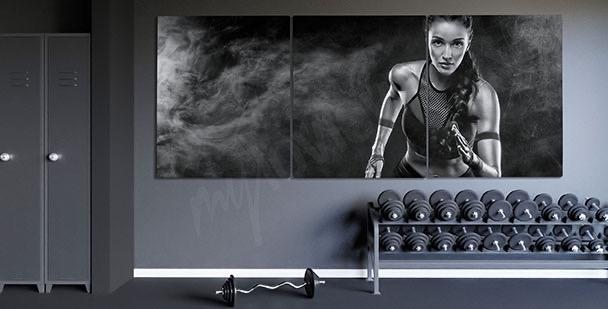 Runner portrait canvas print