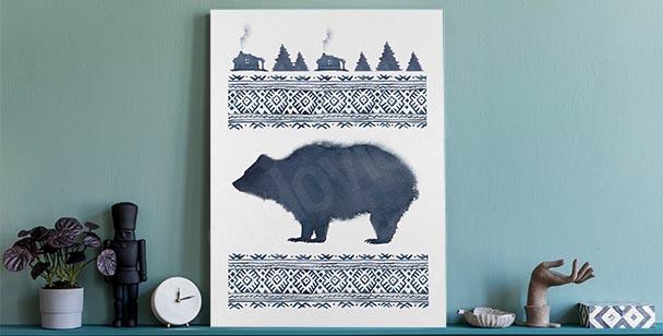 Scandinavian style canvas print
