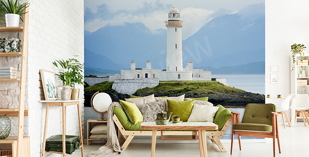 Scottish lighthouse mural