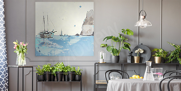 Sea canvas print for the living room