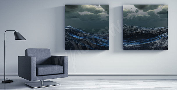 Sea waves canvas print