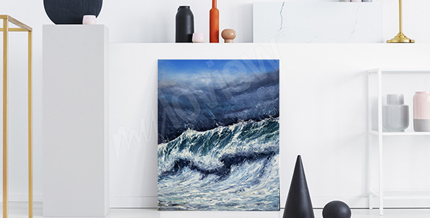 Sea waves canvas print to the hallway