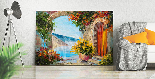 Seaside landscape canvas print