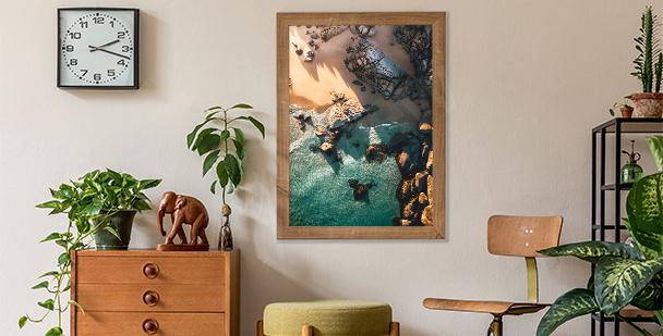 Seaside landscape poster