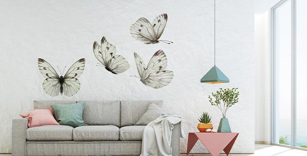 Sepia butterflies sticker