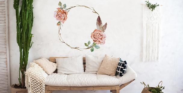 Shabby chic roses sticker