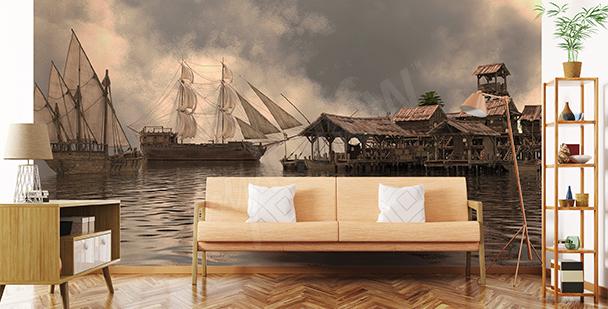 Ships spatial mural
