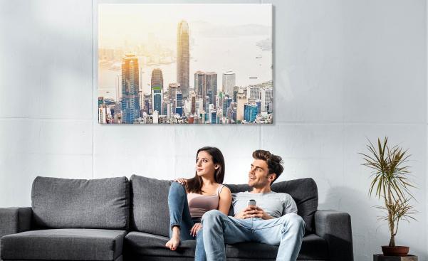 Skyscrapers city canvas print