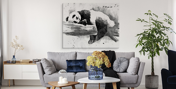 Sleeping fluffball canvas print