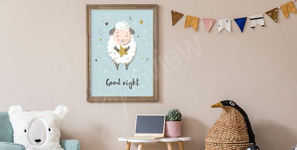 Sleeping lamb poster