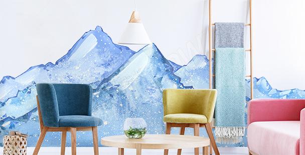 Snowy landscape sticker