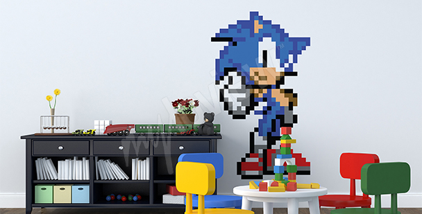 Sonic R game wall sticker