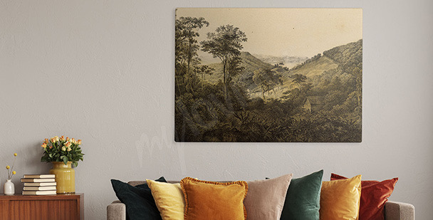 South America landscape canvas print
