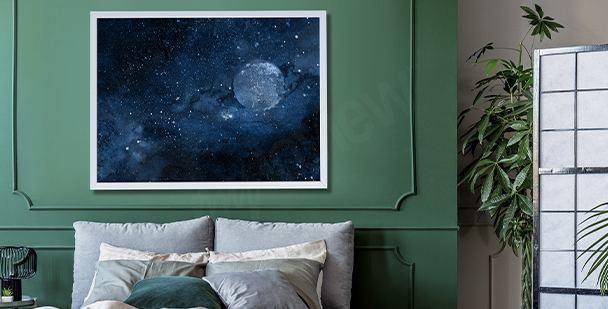 Space bedroom poster