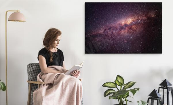 Space canvas print - outer space