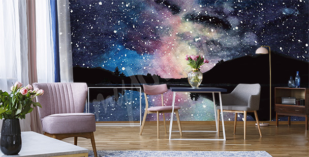Space mural for the living room