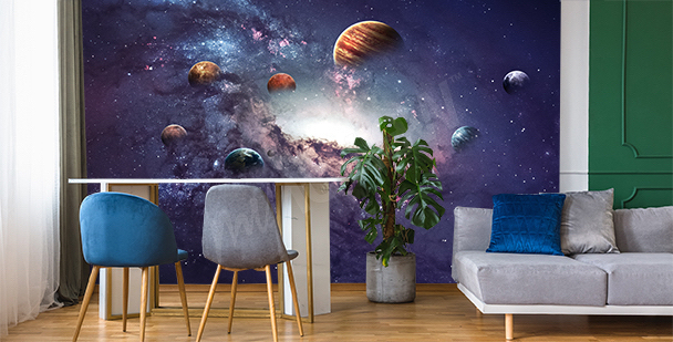 Space mural with planets
