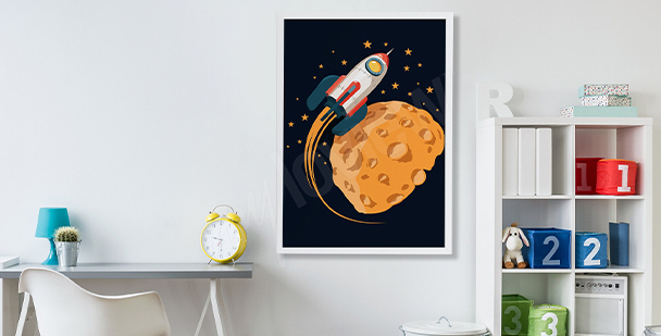 Space poster for children