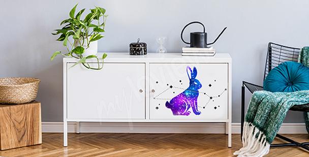 Space rabbit sticker