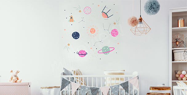 Space sticker for a child's room
