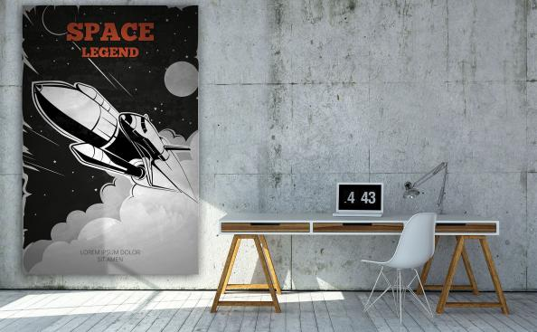 Spacecraft vintage poster