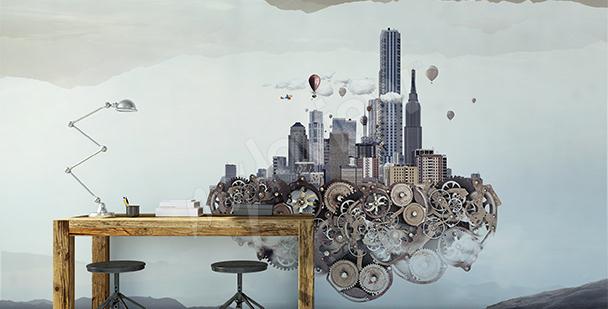 Spatial mural futurism
