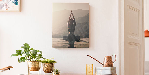 Canvas print with an athlete