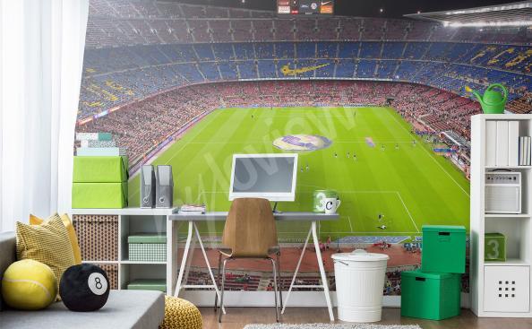 Sport stadium mural