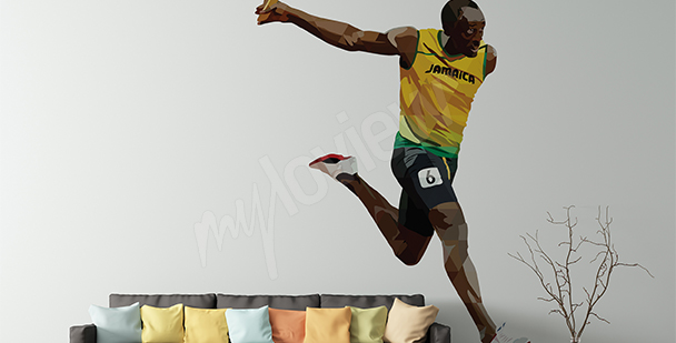 Sport sticker Usain Bolt