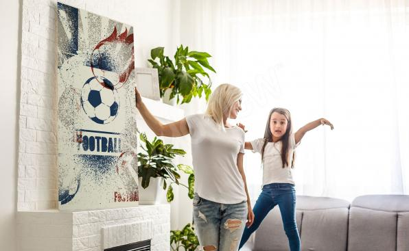 Sports canvas print for the living room