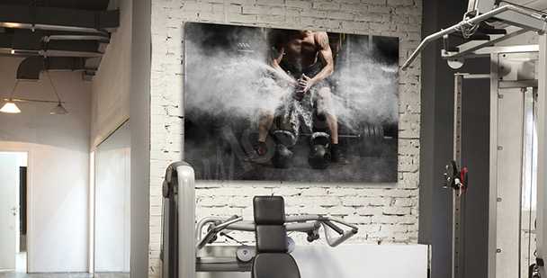 Sports canvas print – weightlifting